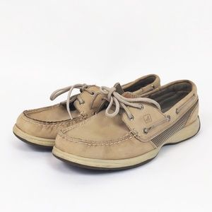 Sperry Intrepid Boat Shoes Slip On 9 Womens Tan